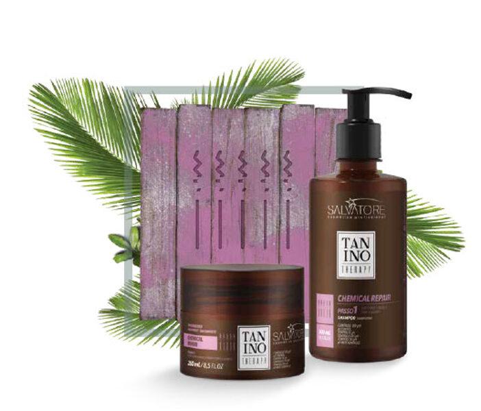 Tanino Therapy шампунь и маска для химически повреждённых волос