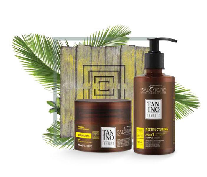 Tanino Therapy Восстановление волос шампунь и маска
